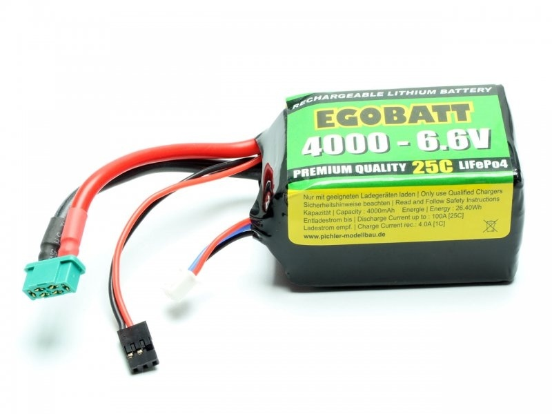 LiFe Akku EGOBATT 4000 - 6.6V (25C) Empfängerakku