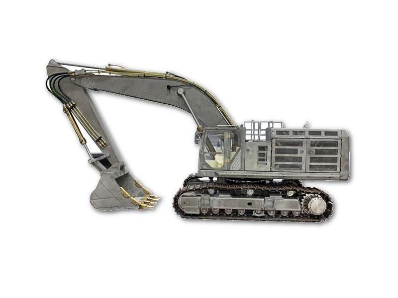 Kettenbagger 74t Bausatz aus Edelstahl mit Hydraulik 1:14