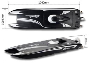 Zonda Pro 2x6S Brushless Powerboat Katamaran 1040mm ARF